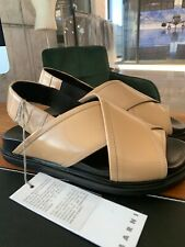 MARNI ANATOMIC CRISS-CROSS FUSSBETT CALFSKIN SANDALS SANDALEN SCHUHE SHOES 38