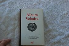 ALBUM VOLTAIRE BIBLIOTHEQUE DE LA PLEIADE