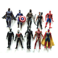 10Pcs The Avengers Infinity War Iron Spiderman Black Panther Figures Toys