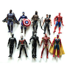 10Pcs Marvel The Avengers Infinity War Iron Spiderman Black Panther Figures Toys