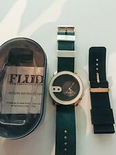 Flud The Exchange Watch in Green White Gold Interchangeable Straps NEW IN BOX