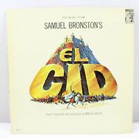 Samuel Bronston's El Cid Miklos Rozsa Vintage Vinyl Record LP VG+ E3977ST