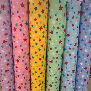 "Polycotton Fabric - Multi Stars - Kids, Boys/Girls 44""/112cm by the Metre"