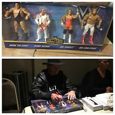 AUTOGRAPHED BOBBY THE BRAIN HEENAN HALL OF FAME ELITE HEENAN FAMILY 4- PACK