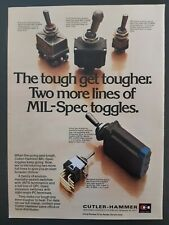 Cutler-Hammer MIL-Spec Toggles Positive Action Switches 1979 Vintage Print Ad