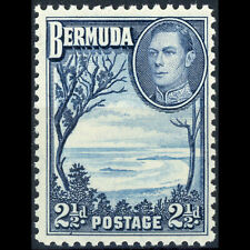 BERMUDA 1938-52  2.5d Light & Deep Blue. SG 113. Lightly Hinged Mint. (AX435)