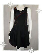 G -  Robe Fantaisie Asymétrique Noire Rouge Cuivre La Mode est à Vous LMV T 34