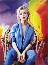 PETER MAX POSTER --MARILYN MONROE --A RARE FIND 18 X 24-FACSIMILE SIGNED