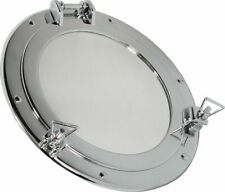 Porthole Mirror, Porthole with Mirror, Brass Chrome-Plated Ø 11 13/16in