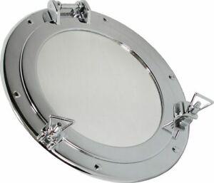 Porthole Mirror, Porthole with Mirror, Brass Ø 11 13/16in