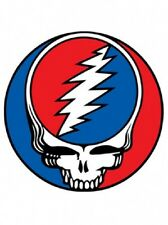 """GRATEFUL DEAD STEAL YOUR FACE 3"""" INCH SYF STICKER JERRY GARCIA WINDOW DECAL"""