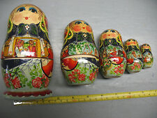 VINTAGE  NESTLING DOLLS  BRILLIANT HAND PAINTED  CULTURAL ICON PRISTINE