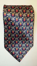 """FABERGE Necktie Ornaments Pure Silk Hand Made in USA 4"""" x 60"""""""