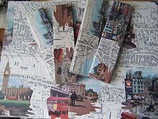 VINTAGE RETRO FOLDING VINYL TABLE MATS / PLACEMATS, SCENES OF LONDON