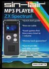 Sin-Lair ZX Lecteur Mp3 Pour Zx Spectrum 16k/48k/+ 300 grands jeux pas DivMMC