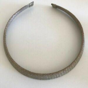 Sarah Cavender Metalworks Silver Woven Mesh Collar Necklace Choker
