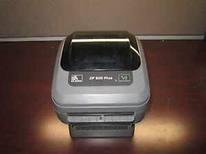 USED ZEBRA ZP 500 Plus LABEL PRINTER Thermal Barcode Postage Label NO INK NEEDED
