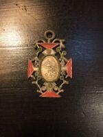 Catholic Devotional  - Antique Pendant Blessed Virgin Mary - Portugal