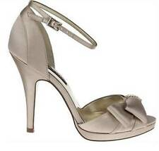 Women's Shoes Nina EARLEEN Dress Sandal Heel Rhinestone Satin Champagne