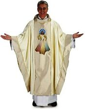 Divine Mercy Priest Chasuble with Gold Embroidery  ***FREE SHIPPING***