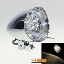 """4.5"""" Chrome Bullet Head Light Lamp W/ Visor For Harley Custom Chopper Bobber"""
