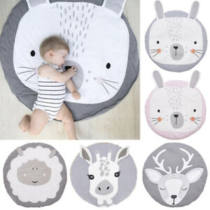 Cute Soft Cotton Baby Game Play Mat Gym Activity Pad Crawling Blanket Floor Rug