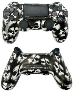 PS4 Controller with Custom White Skull Design Shell w/ Glossy Finish New in Box