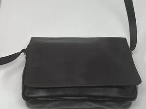 Enny Vintage Soft Italian Leather Shoulder Bag, Chocolate Brown