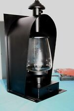 Handmade Industrial Oil Lamp Type Wall Lamp Painted Black With Glass Shade