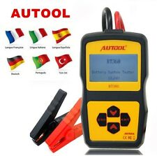 Analizador Comprobador Tester Baterias Coche CCA 12V BT360 For Flooded AGM GEL