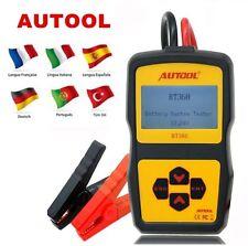 AUTOOL BT360 12V Digital Car Battery Tester for Flooded AGM GEL Multi-language
