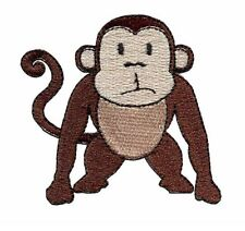 """Monkey Iron On Patch 2.9"""" x 2.8"""" Inches Free Shipping Jungle Zoo"""
