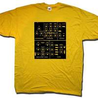 OLD SKOOL HOOLIGANS ANALOGUE SYNTH T SHIRT CLASSIC ELECTRONIC MUSIC T SHIRT