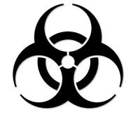 BIOHAZARD Aufkleber Autoaufkleber Sticker Bio verseucht Zombie decal 24 #8074