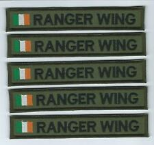 Irish Defence Forces X 5 Name Strips Name Strips Army Ranger Wing