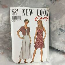 New Look 6364 summer maxi dress jacket vintage UNCUT sewing Pattern size 8-18