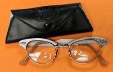 Vintage 70's U.S. Safety Glasses Eyeglasses Beautiful Aluminum Frames Rare