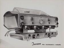 """Machine à café Juvara modèle """"Oleodinamico 4 groupes"""" tirage d'époque"""