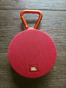 JBL Clip 2 Portable Bluetooth Speaker Red Tested Works