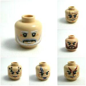 Custom Printed CLONE TROOPER HEADS -Genuine Lego Brand New- Minifig Madness