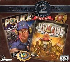 PLATINUM 2 PACK: POLICE: TACTICAL TRAINING (2002) PC CD-ROM NEW & FACTORY SEALED