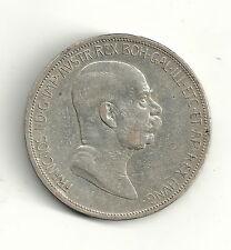 Österreich 5 Kronen / Corona 1908 60.Regierungsjubiläum Franz Joseph I. - Silber