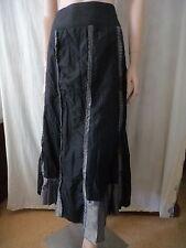NEW COVER Black/Bronze Taffeta-Look Frilled Skirt Sz 12