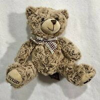 Willis Brown Teddy Bear Plush Stuffed Animal Toy Doll Plaid Bow Ribbon Collar