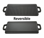 Cast Iron Reversible Grill Griddle 17 x 9 Pan Hamburger Steak Stove Top Fry Cook