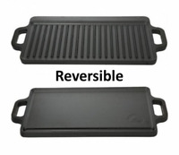 Cast Iron Griddle Stove Oven Camping Camp Open Fire Grill Cooktop Meat Vegetable