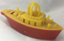 """Vintage Plastic Lional Toy Boat & Whistle 1950s 4 1/4"""""""