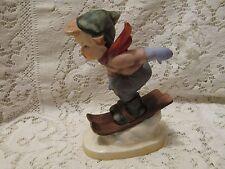 Vintage Napco Ware Figurine - Boy Skiing With Original Sticker