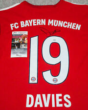 Alphonso Davies Signed FC Bayern Munich Home Red Jersey EXACT Proof JSA