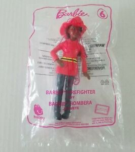 McDonalds 2019 Happy Meal Toy Mattel BARBIE FIREFIGHTER No 6 New Sealed